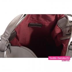 Plecak damski i torba w jednym - wnętrze z kieszenią