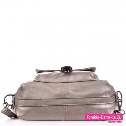 Plecako-torba srebrna - spód ze wzmacniającym paskiem