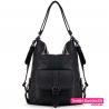 Czarna torba damska z możliwością noszenia jako plecak - 99,00zł