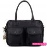 Czarna torba Lulu Castagnette z dwoma kieszeniami z przodu A4 - 129,00zł