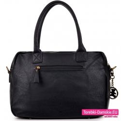 Modna czarna markowa torba damska Lulu z kieszenią z tyłu