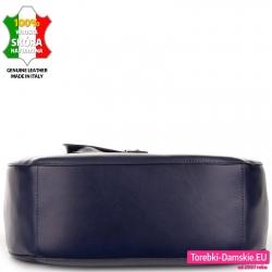 Skórzana duża torba od spodu - szeroka i pojemna