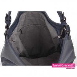 Mieszcząca A4 torba - worek z miękkiej skóry eko