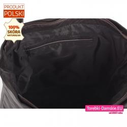 Zamykana suwakiem torba A4 z naturalnej skóry