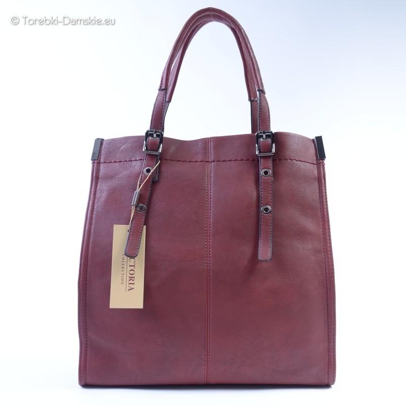 61f7bbe066745 Mieszcząca A4 duża torba miejska typu shopper w kolorze ciemna ...