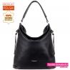 Duża czarna torba damska z miękkiej naturalnej skóry - 169,00zł