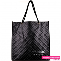 Czarny duży shopper Monnari