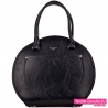 Okrągła czarna torba damska - 119,00zł