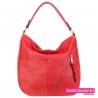 Czerwony worek stylowa miejska torba damska na ramię - 89,00zł