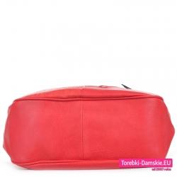 Torebka czerwona z płaskim dnem - worek od spodu sztywny