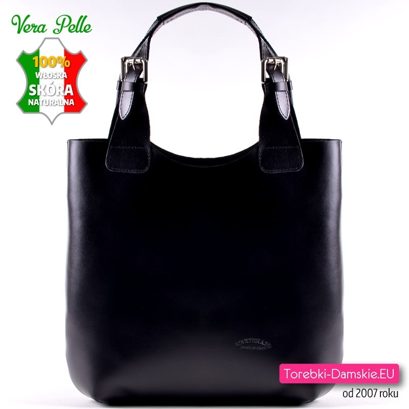 a490f3b1c833c Duża skórzana torba damska włoska L'Artigiano - wysyłka gratis