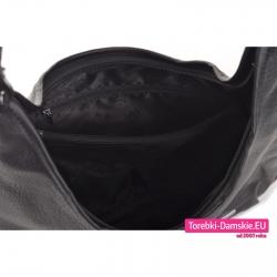 Pojemna czarna torba z przegrodą wewnątrz