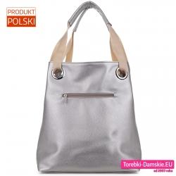 Duża torba ze srebrnym tyłem
