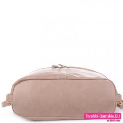 Spód beżowego torbo-plecaka