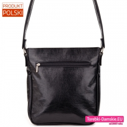 Polska czarna lekka torebka crossbody wysokiej jakości
