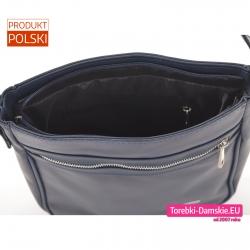 Zamykana suwakiem torebka z dwoma kieszeniami wewnątrz