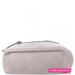 Pojemna popielata torba z płaskim spodem