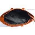 Skórzana torebka z przegrodą wewnątrz - duży, jasnobrązowy model