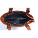 Dwukolorowa duża skórzana torba: odcienie brązu