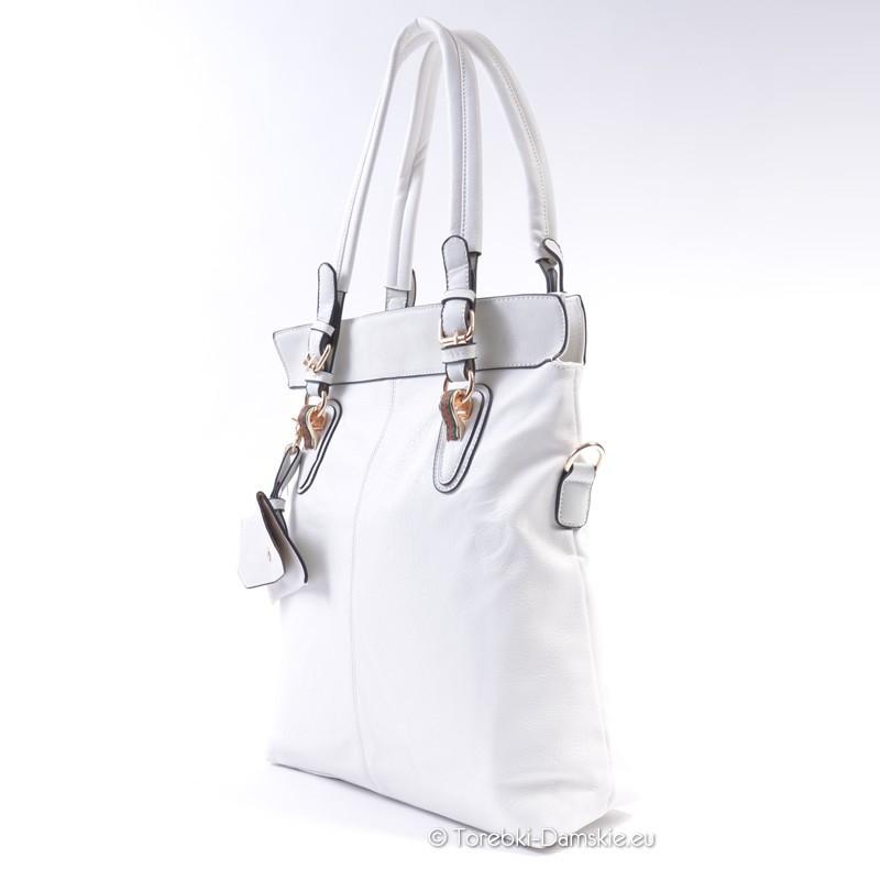 b99dc42bc1de9 ... Prostokątna torba w kolorze białym