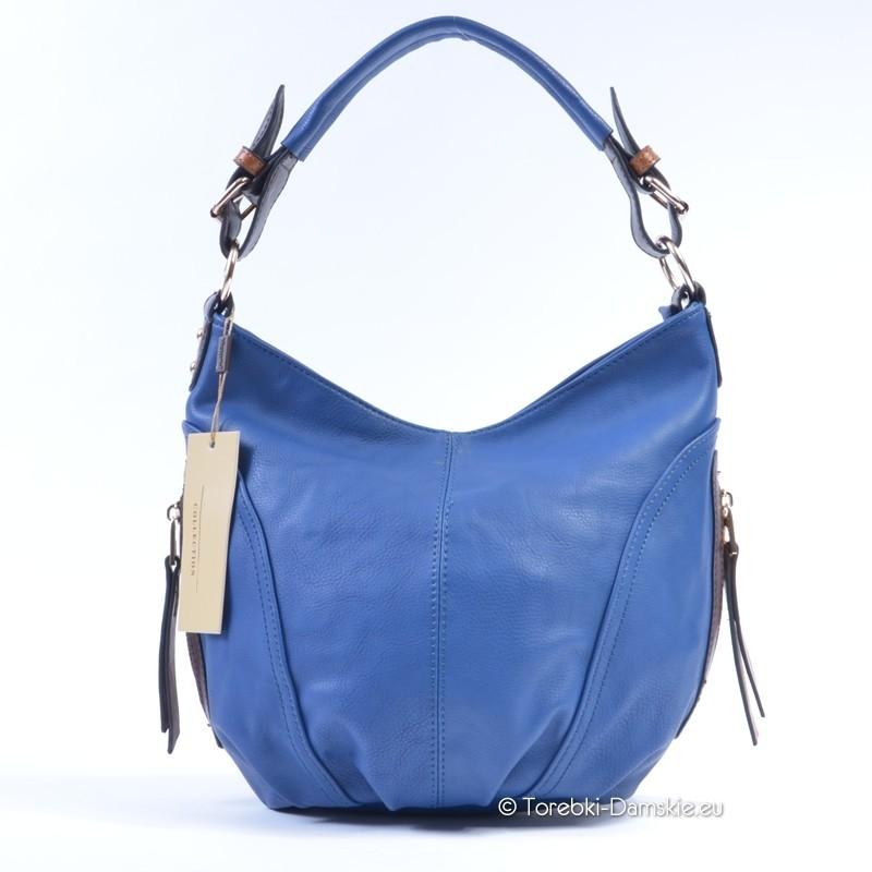 96805eccbb62f Nowy Niebieska torebka listonoszka - worek w kolorze błękitnym