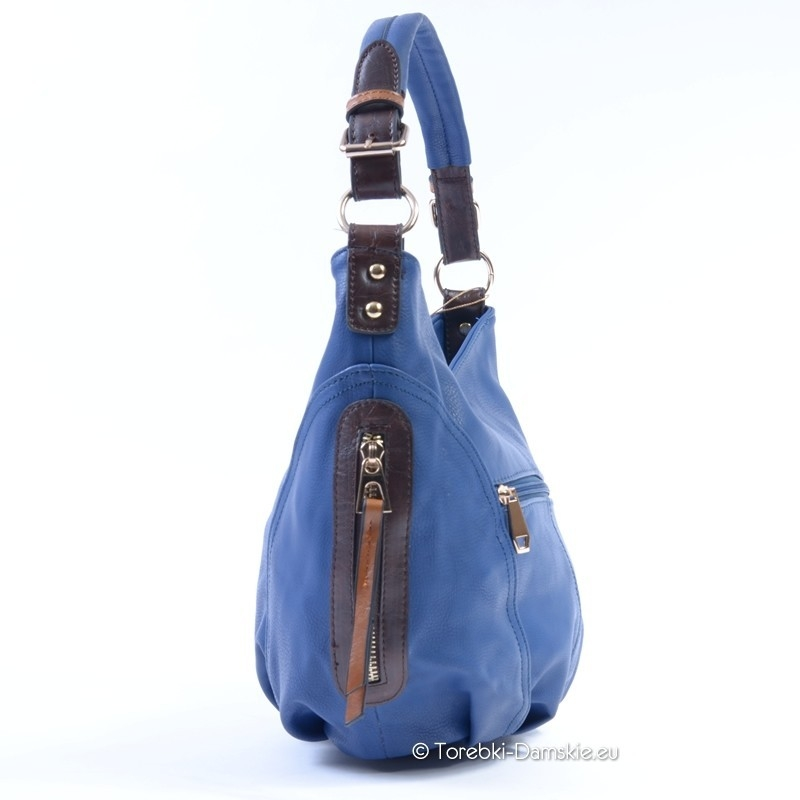 6a8ec366a8d2a ... Niebieska torebka listonoszka - worek w kolorze błękitnym ...
