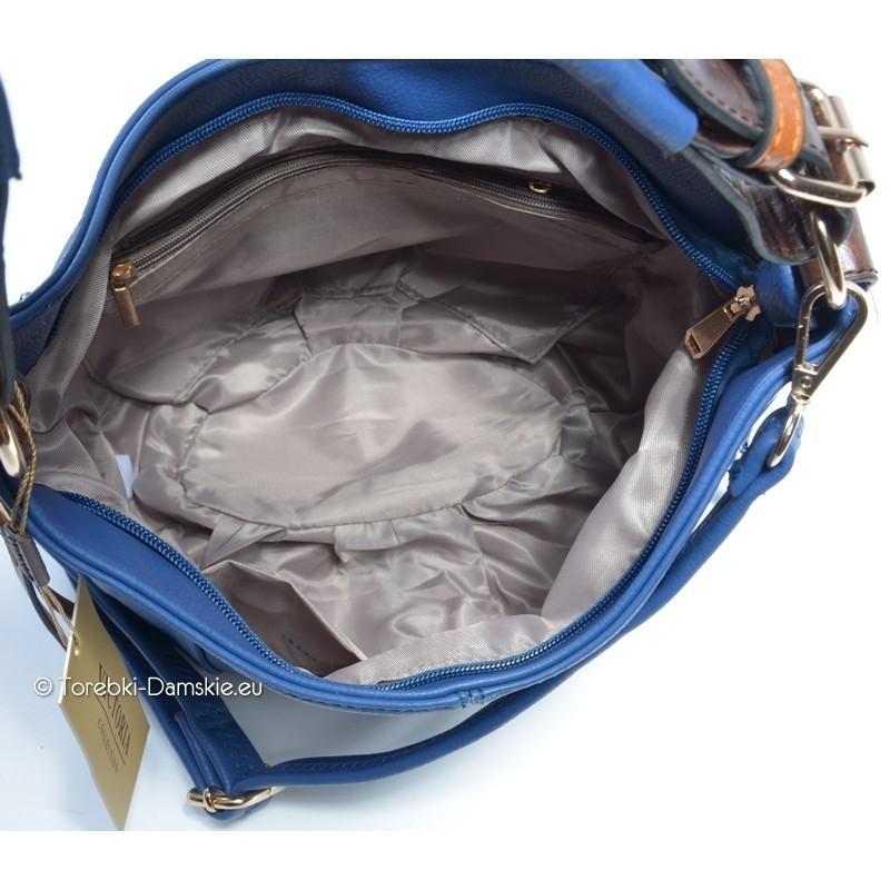 ed315b08c65db ... Niebieska torebka listonoszka - worek w kolorze błękitnym