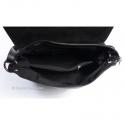 Czarna torebka z klapą - skórzana