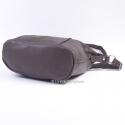 Duża ciemnobrązowa torba na długim pasku