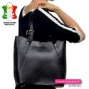 Pojemna czarna torba Vera Pelle na ramię