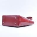 Skórzana torba damska produkcji włoskiej czerwona ze stopkami