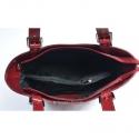 Włoska torba w kolorze czerwonym skórzana z przegrodą wewnątrz