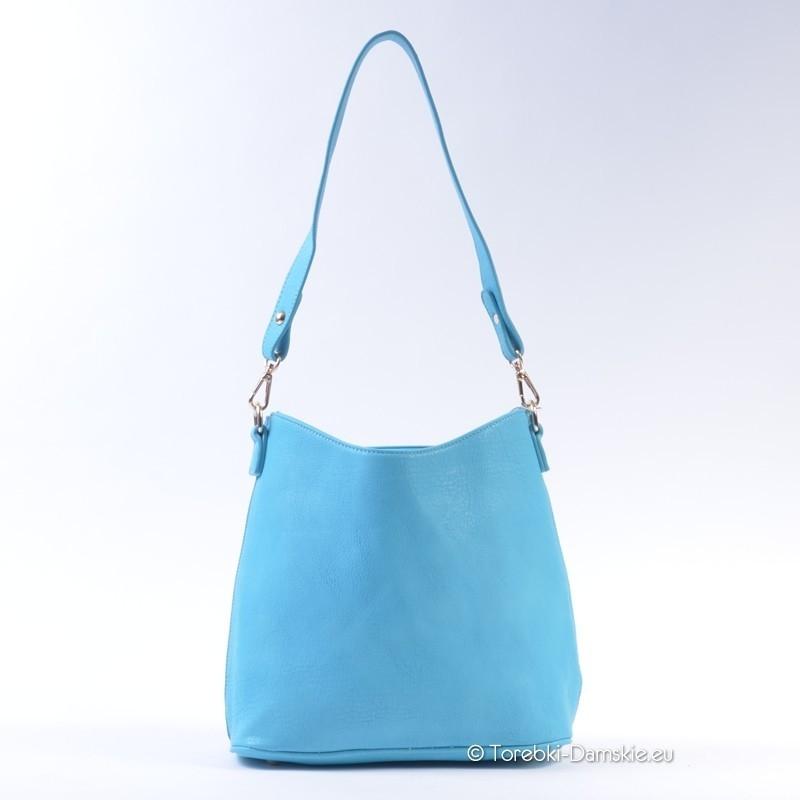 77dc94b5e6dd0 Turkusowa torebka damska - piękny błękit