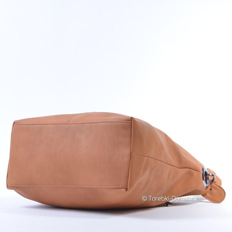 63cd8f32d4c4c ... Nowy model - torebka w kolorze Camel - elegancki worek ...