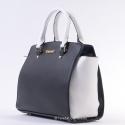Czarno - biała torebka - zgrabny kuferek