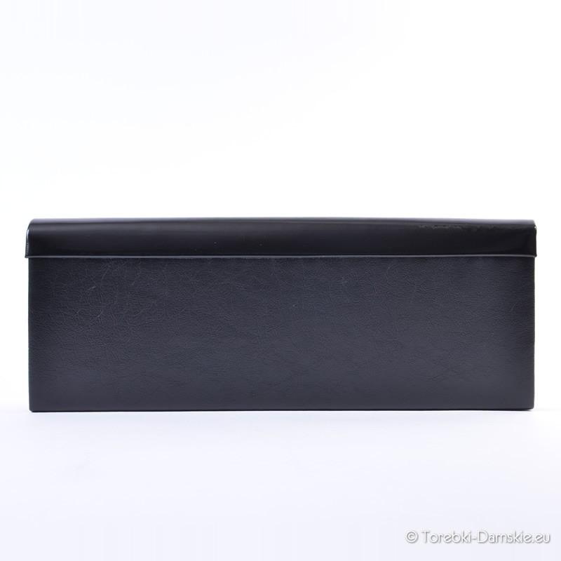 71157590e1933 ... Kopertówka czarna lakierowana prostokątna