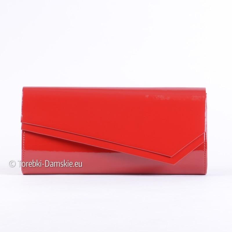 017e59a92eeb3 Czerwona kopertówka lakierowana prostokątna