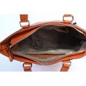 Jaskrawa, pomarańczowa - ruda torebka zarka sztywna