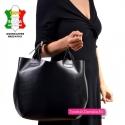 Funkcjonalna torba shopper z dopinanym paskiem długim