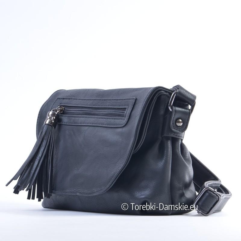 337985bebb830 ... Czarna mała torebka na długim pasku ...