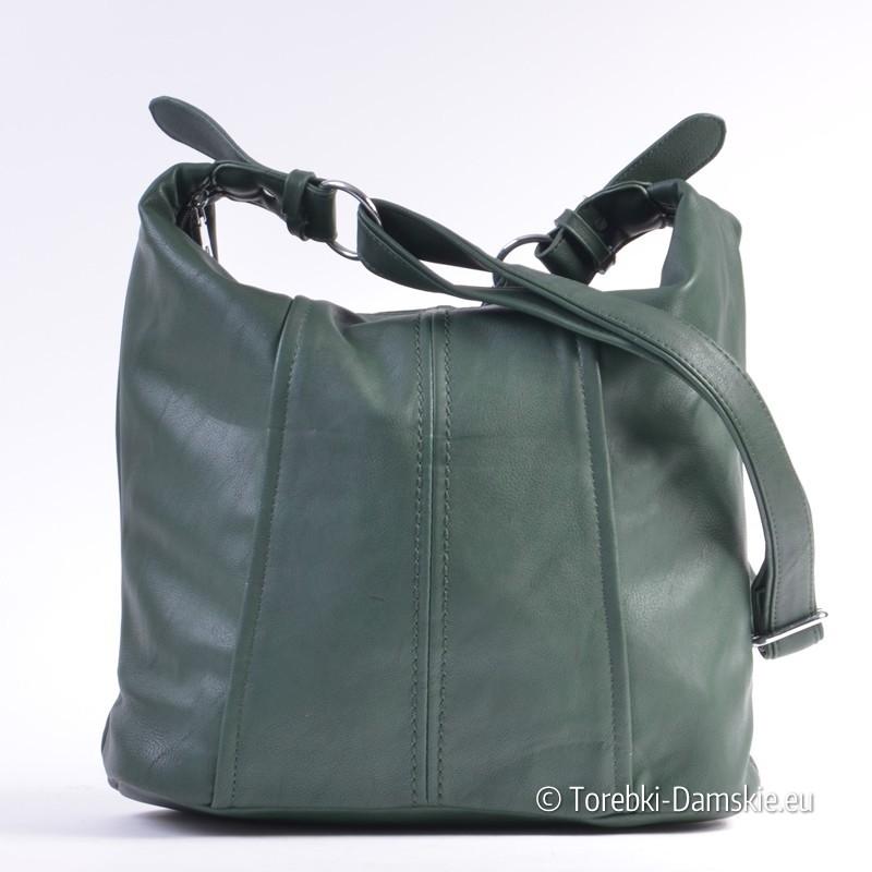 e30e253d26906 Nowy Duża zielona torba na długim pasku z regulacją