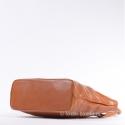 Torba ze skóry - jasny brąz Camel - mieści A4
