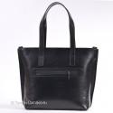 Czarna skórzana torba A4 kwadratowa