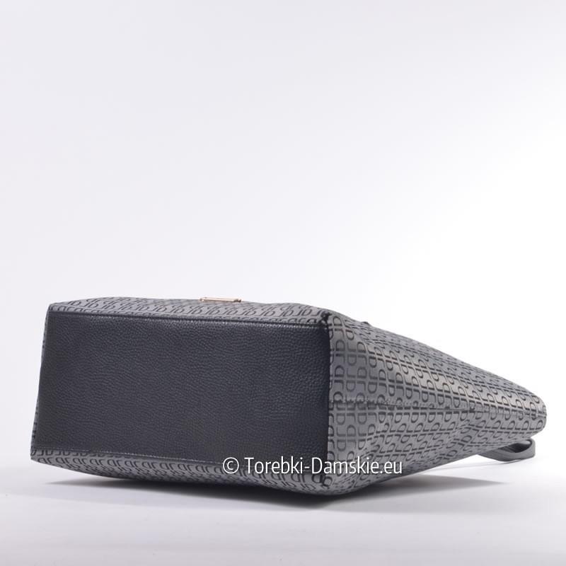 983b3da03d2a6 ... Duża szara elegancka torba damska z tkaniny - David Jones ...