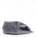 Szara torebka skórzana - dwa kształty