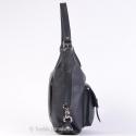 Skórzana czarna torebka i plecak w jednym