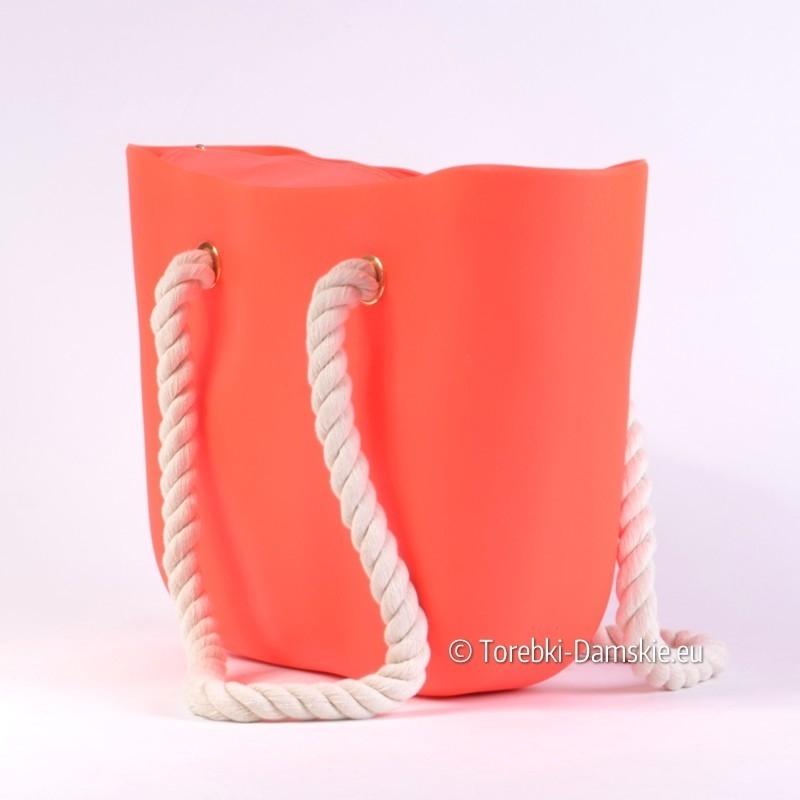 8c69acf8a5e50 Silikonowa torba damska w kolorze różowym fluorescencyjnym
