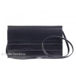 Mała czarna kopertówka - torebka wizytowa