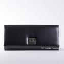 Czarna duża kopertówka - stylowa torebka wizytowa