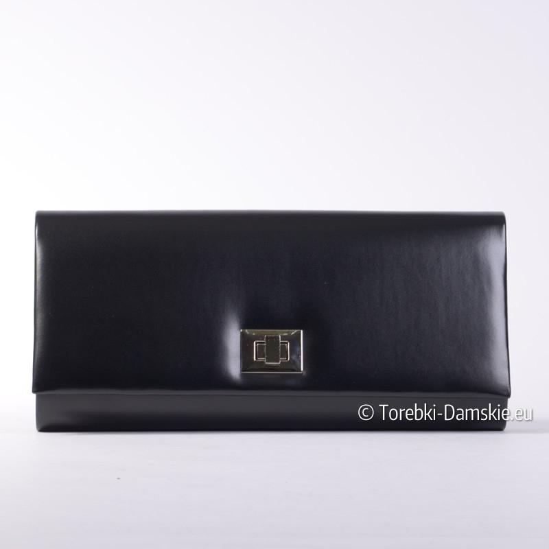 0e3f23df3a3a8 Czarna duża kopertówka - stylowa torebka wizytowa